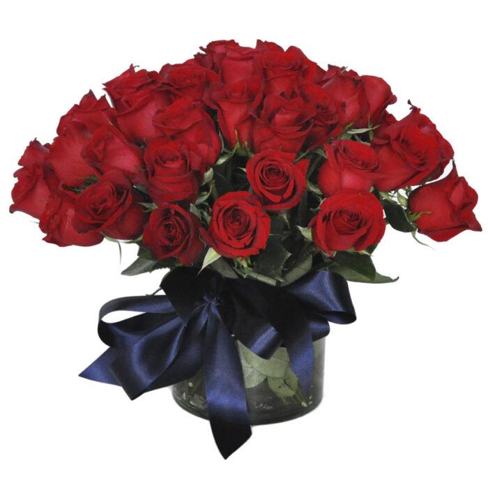Bouquet 50 rosas rojas