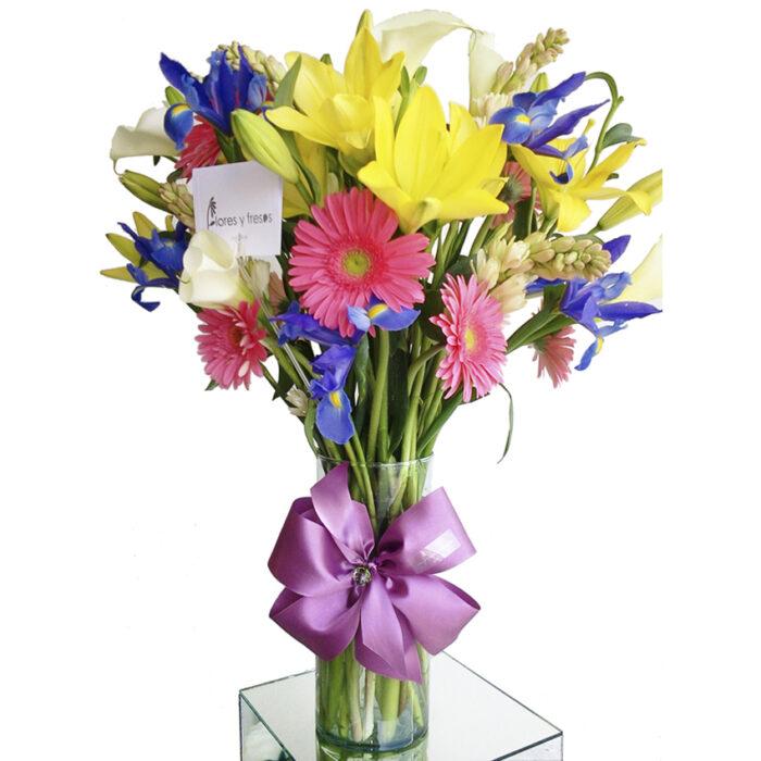 gerberas con iris