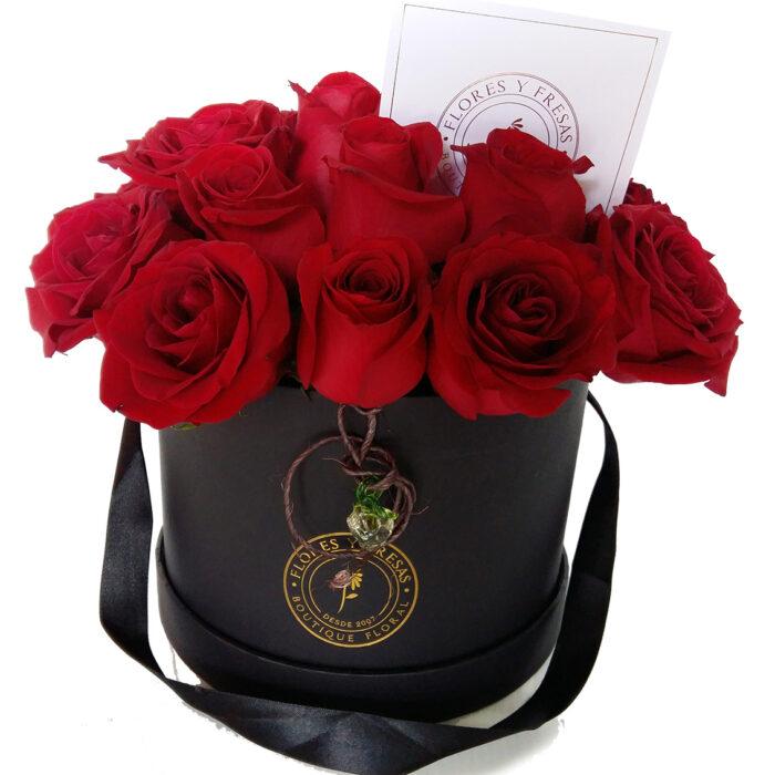 24 rosas caja negra