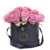 24 rosas LILA caja negra