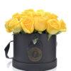 24 rosas amarillas caja negra