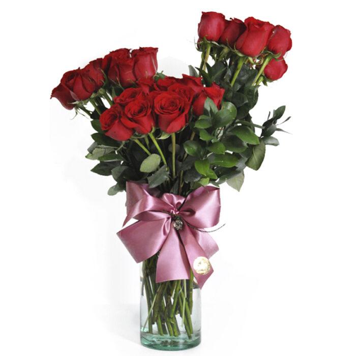 Topiario 36 rosas rojas