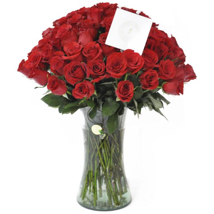 80 Rosas rojas
