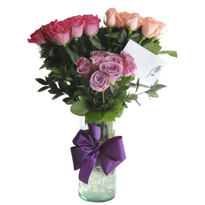 Topiario 36 rosas tricolor