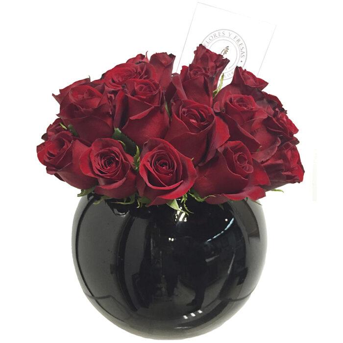 rosas esfera negra